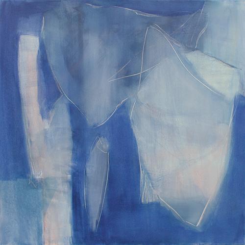 in blau, 70 x 70 cm