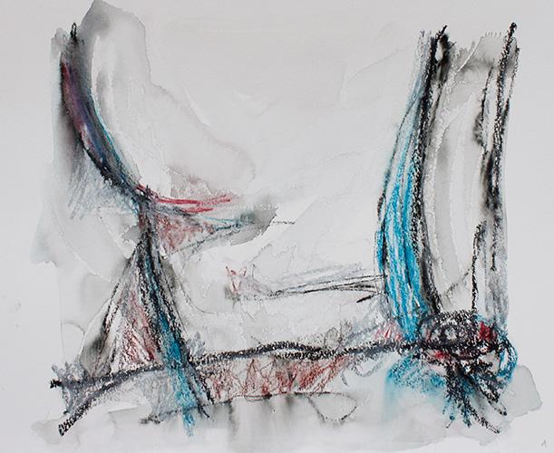 Zeichnung 1, 2019, 30 x 40 cm,