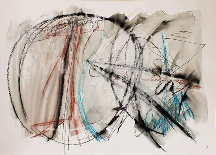 Zeichnung 2019, 50 x 35 cm,