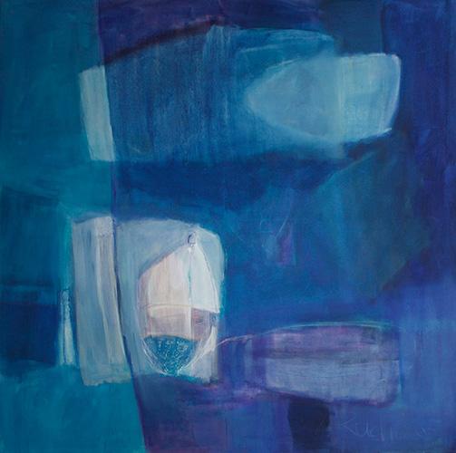 grosses Blau, 150 x 150 cm, andächtig