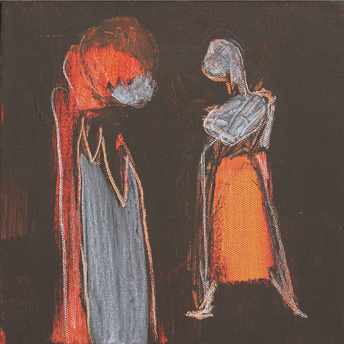 2015, 20 x 20 cm, 3er, schwarz-rot_no fear, Fr. 60.-