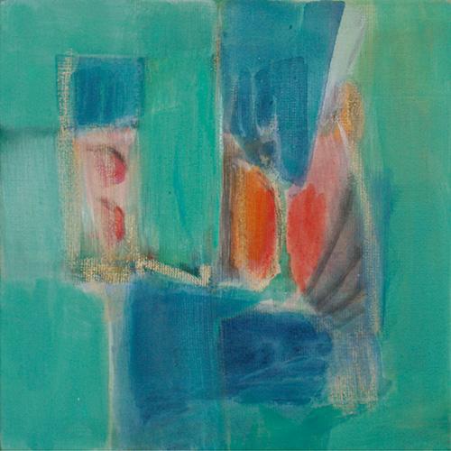 Farbspiel Blau-Grün, 2009, 30 x 30 cm, 140.-